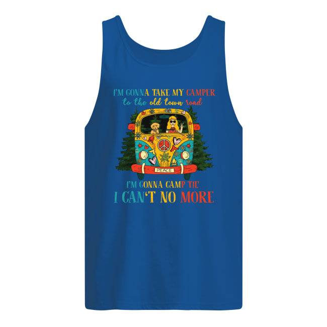 Hippie i'm gonna take my camper to the old town road men's tank top