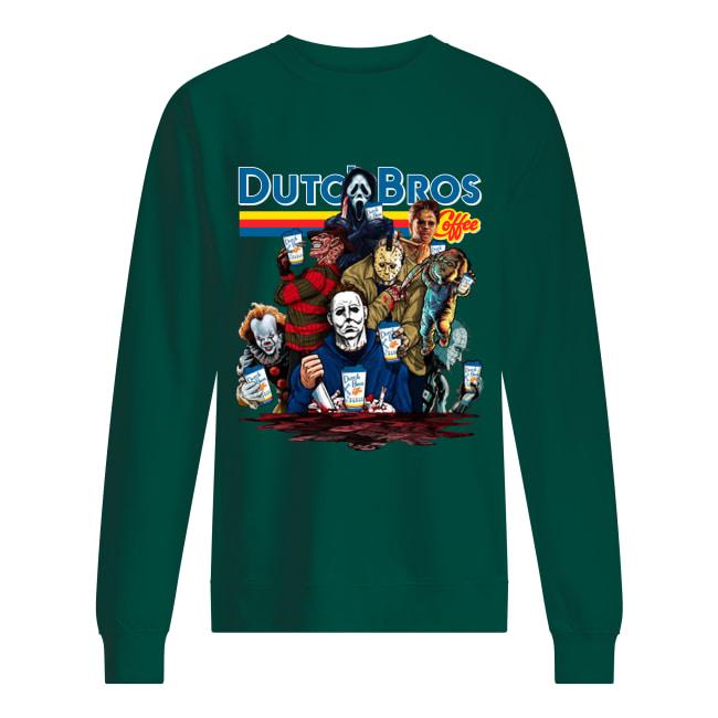 Horror movie characters Dutch Bros coffee sweatshirt