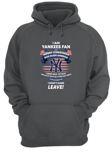 I am Yankees fan i say merry christmas God bless America hoodie