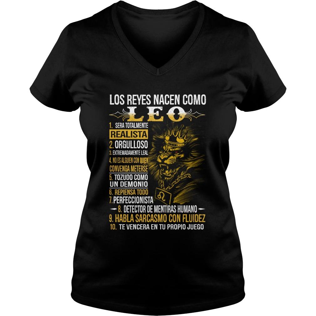 Los reyes nacen coma Leo lady v-neck