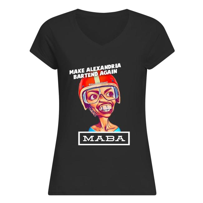 MABA make Alexandria Bartend again women's v-neck