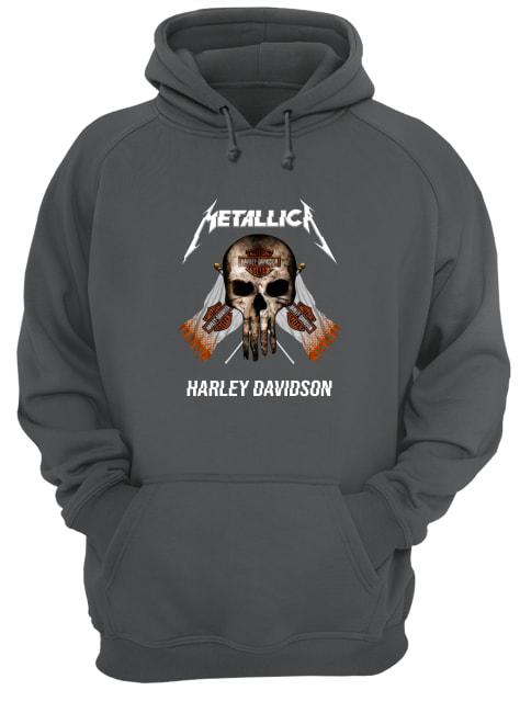 Motor style metallic Harley Davidson hoodie