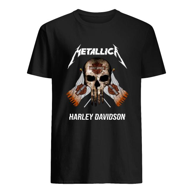 Motor style metallic Harley Davidson men's shirt