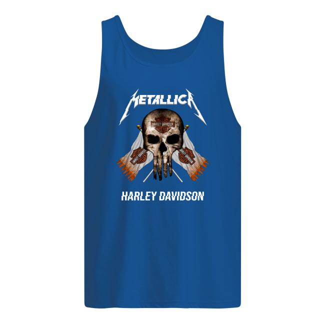 Motor style metallic Harley Davidson men's tank top