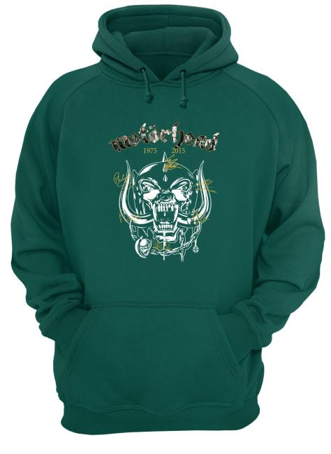 Motorhead 1975 2015 signature hoodie