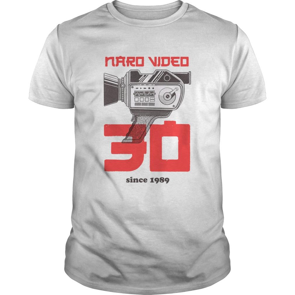 Naro Video Since 1989 Camera Graphic guy shirt