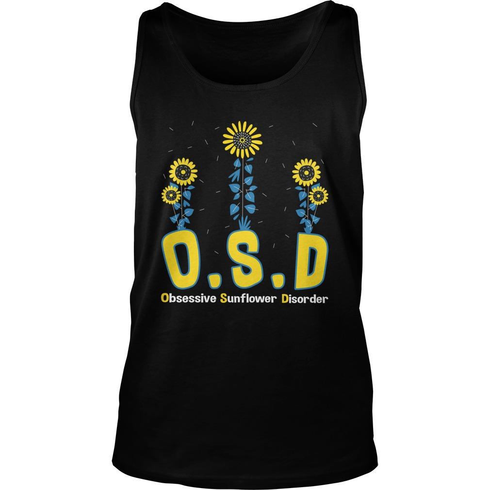 OSD obsessive sunflower disorder tank top
