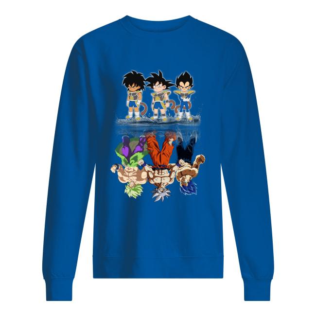 Saiyan kids Broly Songoku Vegeta mature water reflection sweatshirt