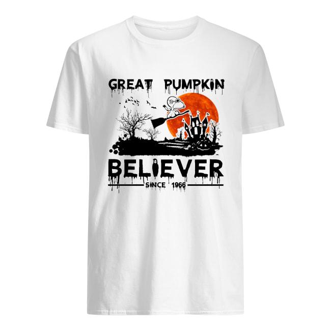 Snoopy great pumpkin believer since 1966 halloween men's shirt