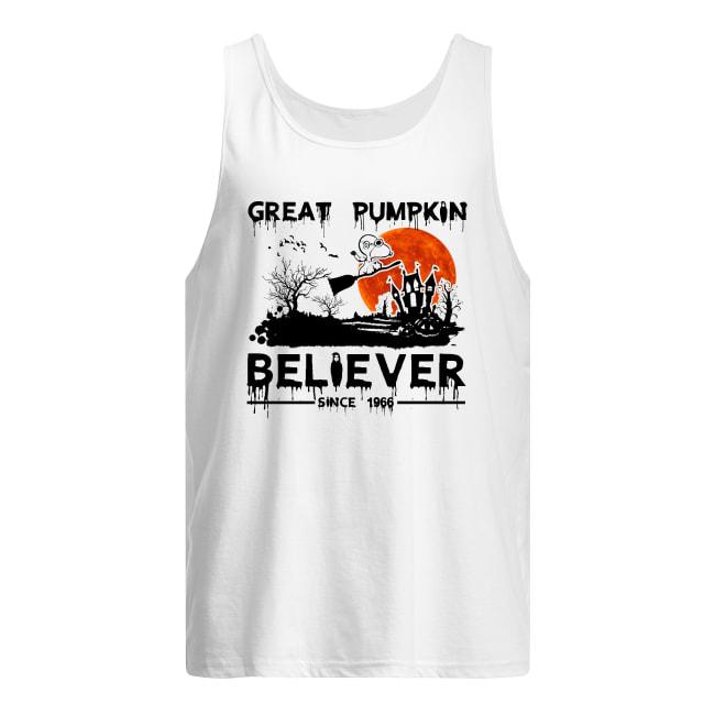Snoopy great pumpkin believer since 1966 halloween men's tank top