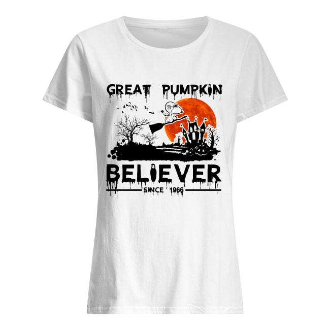 Snoopy great pumpkin believer since 1966 halloween women's shirt