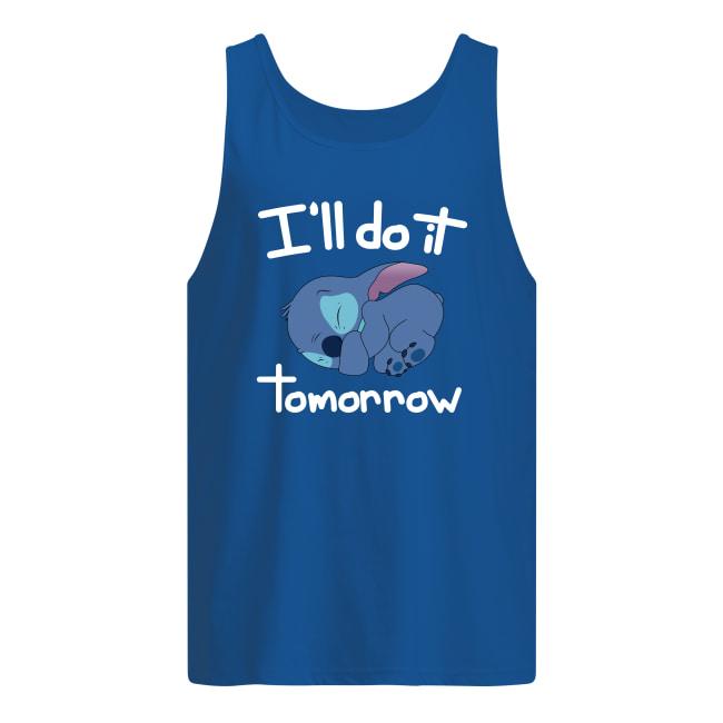 Stitch i'll do it tomorrow men's tank top