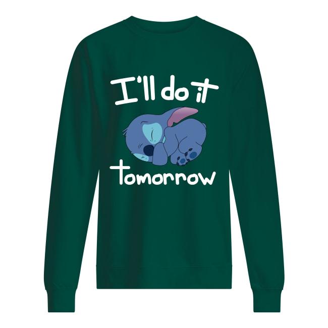 Stitch i'll do it tomorrow sweatshirt