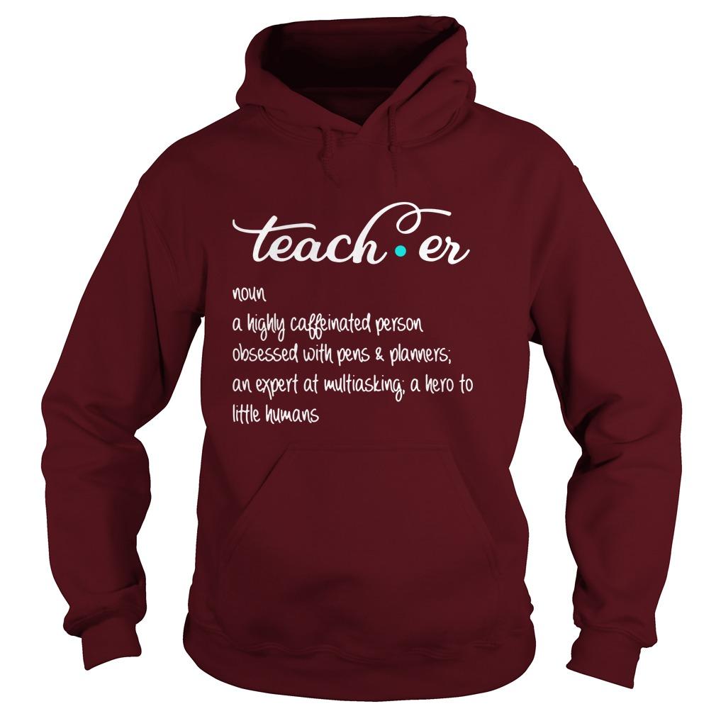 Teacher definition hoodie