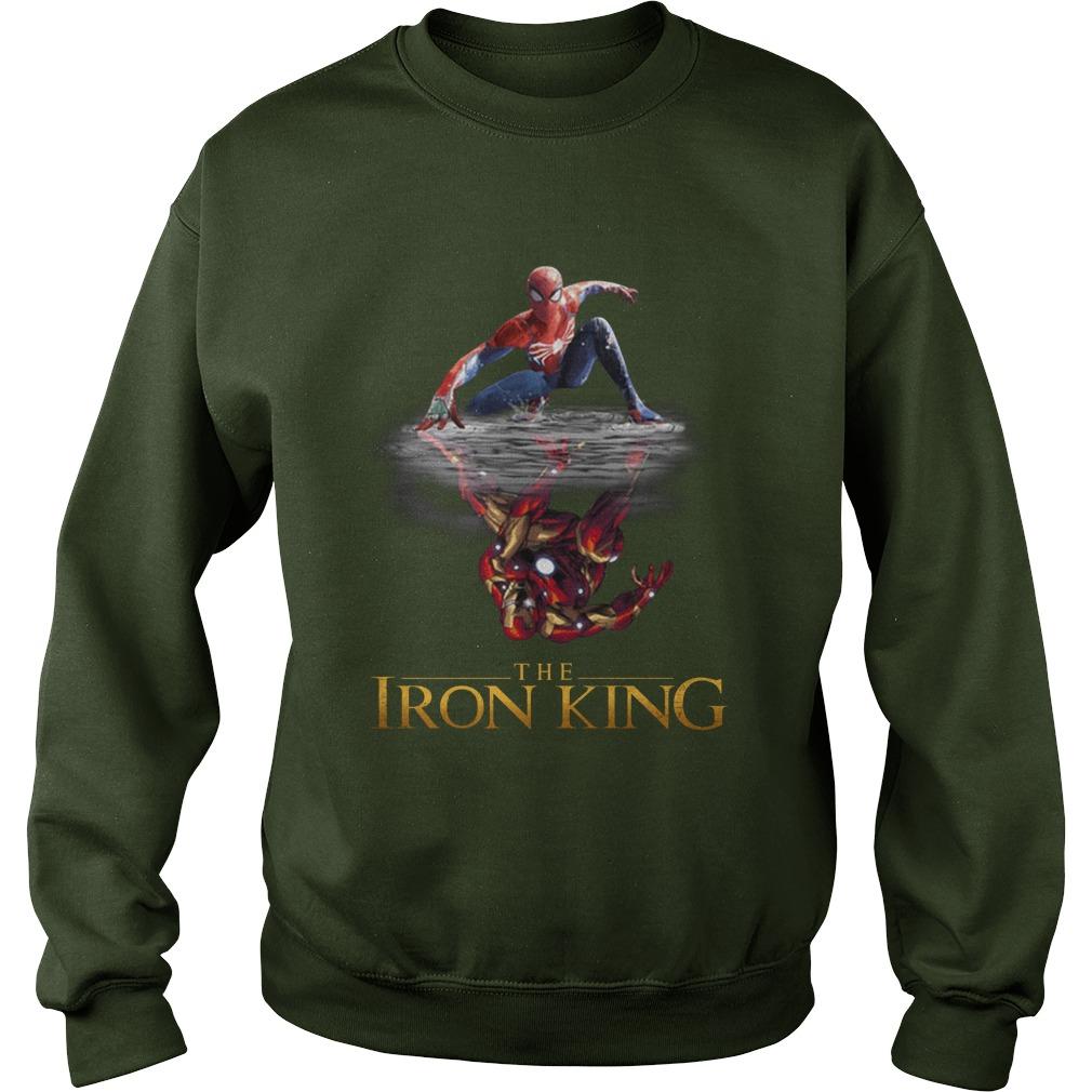 The Iron King Spider man reflection Iron man sweatshirt