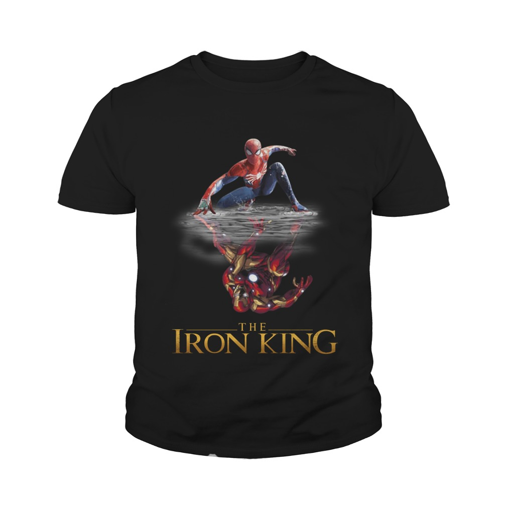 The Iron King Spider man reflection Iron man youth tee