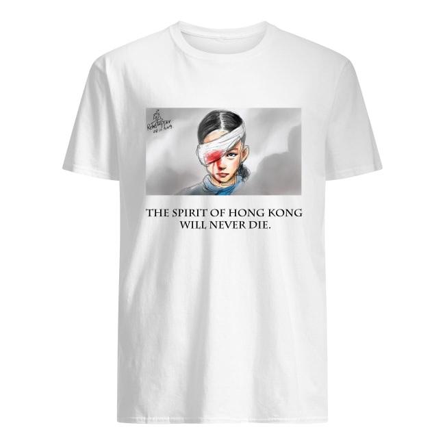 The spirit of Hong Kong will never die men's shirt