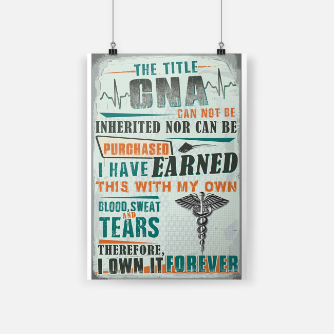 The title CNA can not be inherited nor can be purchased poster