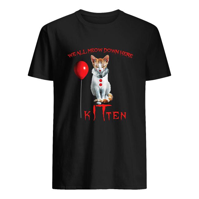 We all meow don here kitten IT men's shirt