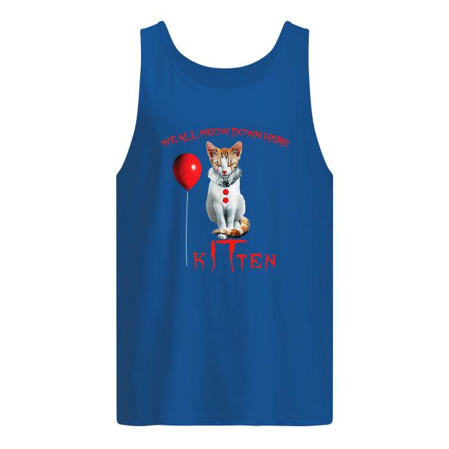 We all meow don here kitten IT men's tank top