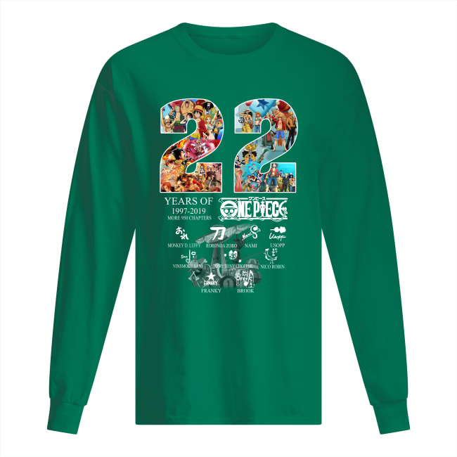 22 years of One Piece 1997 2019 more 950 chapters signatures long sleeved
