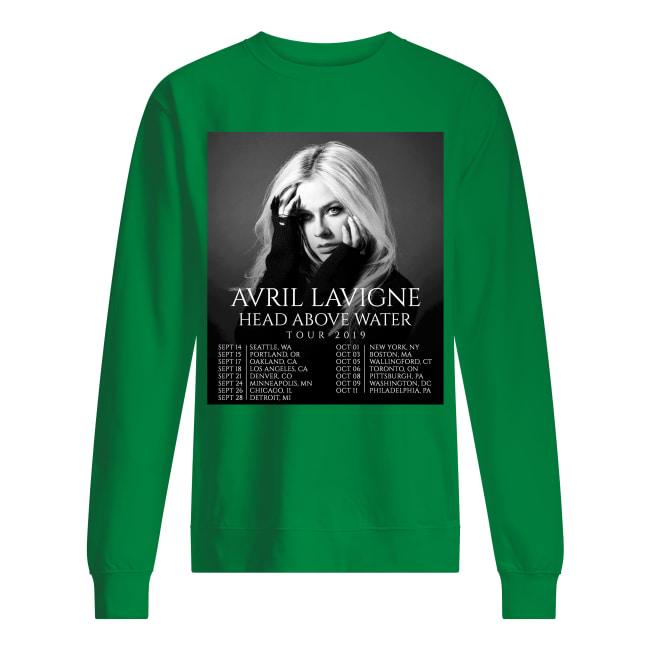 Avril Lavigne head above water tour 2019 sweatshirt