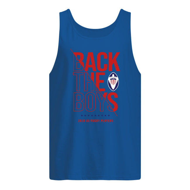Back the boys 2019 us rugby players tank top