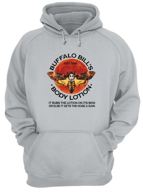 Buffalo Bill's EST.1991 body lotion it rubs the lotion on its skin hoodie