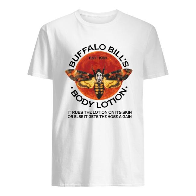 Buffalo Bill's EST.1991 body lotion it rubs the lotion on its skin shirt