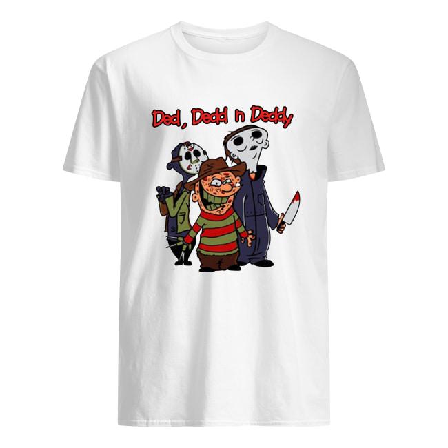 Horror movie character ded dedd and deddy men's shirt