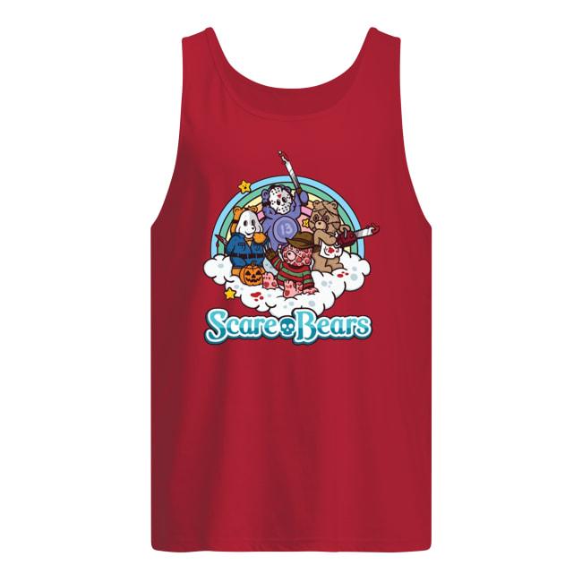Horror movie characters scare bears tank top