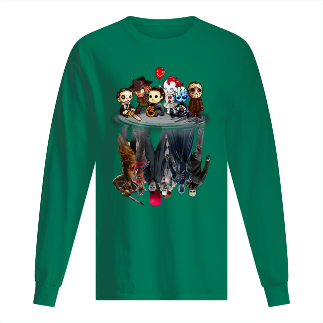 Horror movie characters water reflection long sleeved