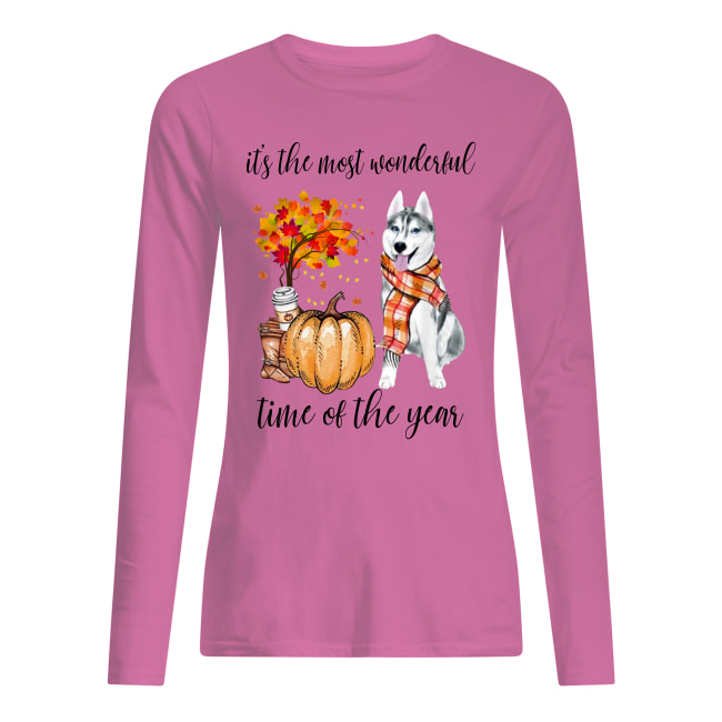 Husky it's the most wonderful time of the year long sleeved