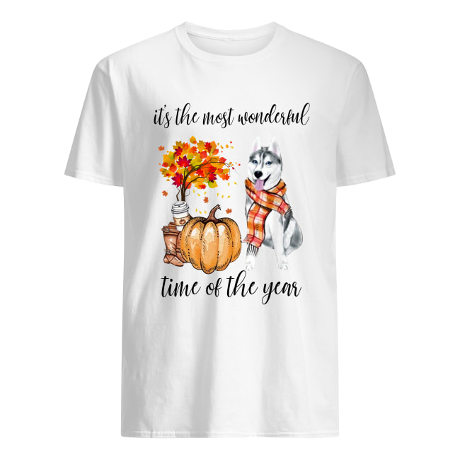 Husky it's the most wonderful time of the year men's shirt