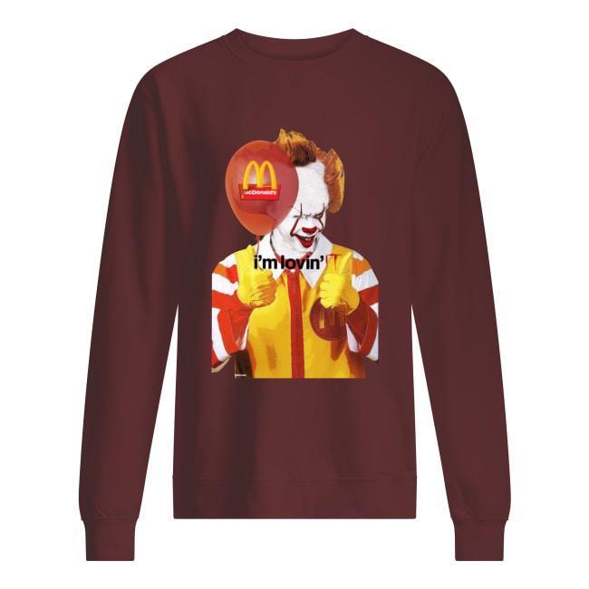 I'm lovin it Mcdonald's Pennywise sweatshirt