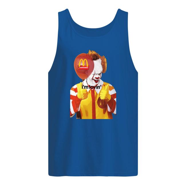 I'm lovin it Mcdonald's Pennywise tank top