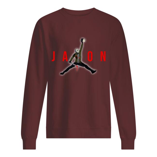 Jason Voorhees Air Jordan sweatshirt