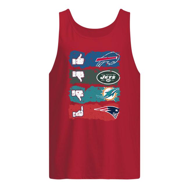 Like Buffalo Bills dislike New York Jets Miami Dolphins and fuck New England Patriots tank top
