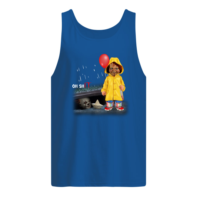 Oh shIT Chucky and Pennywise tank top