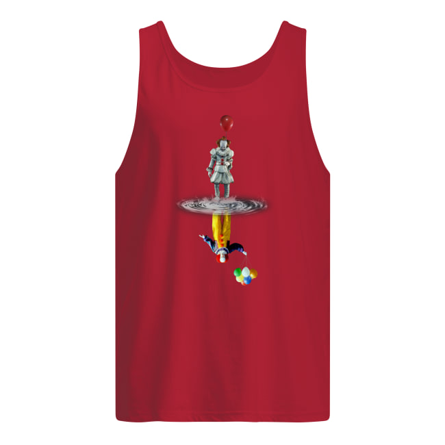 Pennywise water mirror reflection tank top