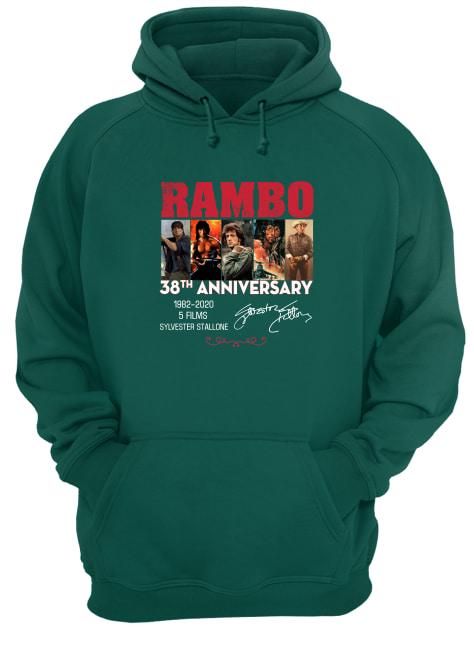 Rambo 38th anniversary 1982 2020 5 films Sylvester Stallone signature hoodie