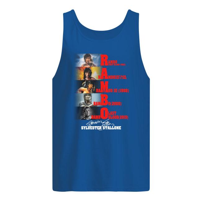 Rambo all season Sylvester Stallone signature tank top