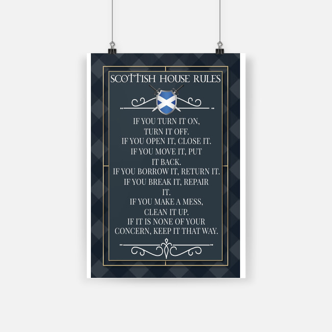 Scottish house rules poster