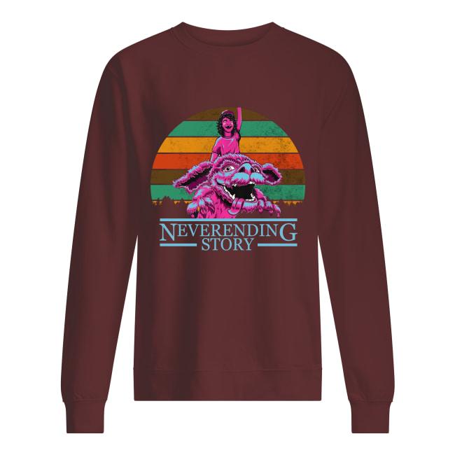 Sleeky and Dustin neverending story sweatshirt