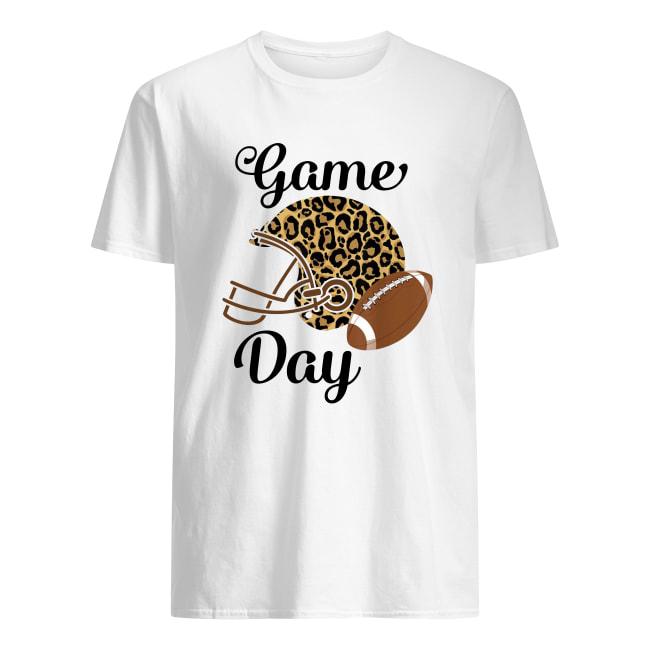 Super Bowl game day league football player leopard helmet men's shirt