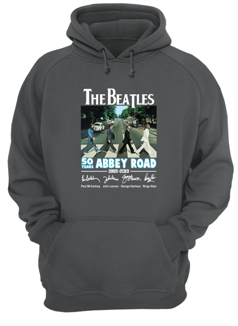 The Beatles 50 years of Abbey Road 1969 2019 signature hoodie