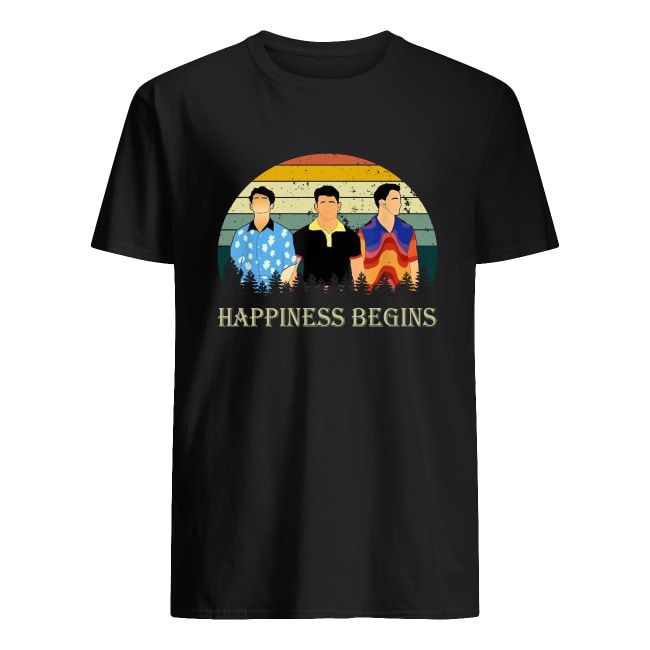 Vintage Jonas Brothers happiness begins tour men's shirt