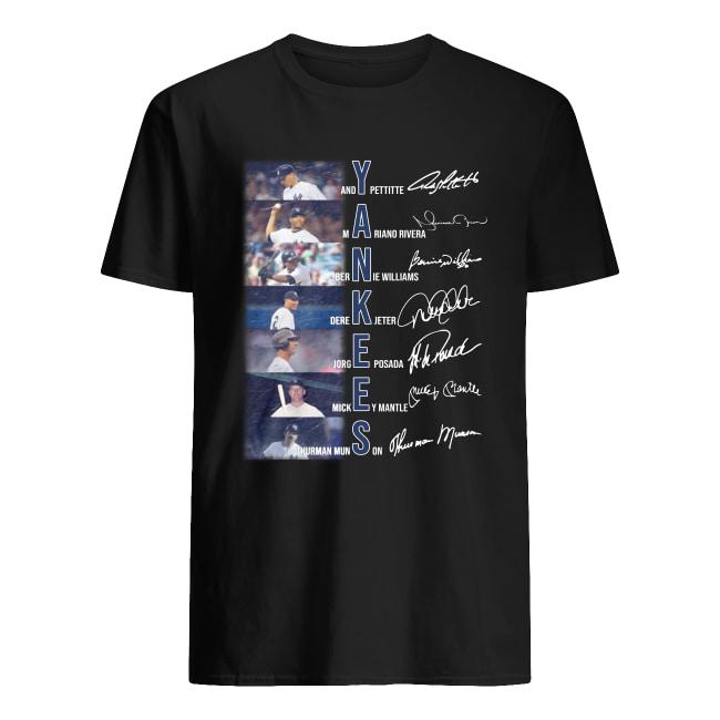 Yankees baseball players signature men's shirt