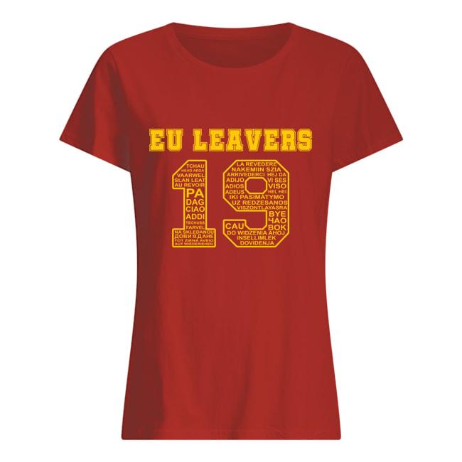 19 Eu leavers womens shirt