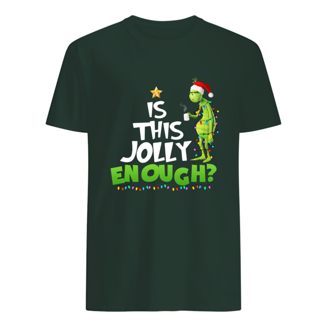 Christmas Grinch is this jolly enough mens shirt